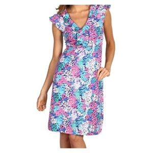 Lilly Pulitzer Clare silk jersey ruffle dress